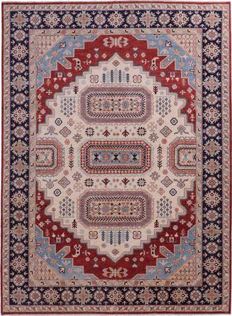 Hand Made Afghanistan Oushak 6'11''x9'3'' Rust
