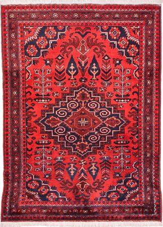"""Hand Made Afghanistan Balouch 3'4"""" x 4'6"""" Red DK"""