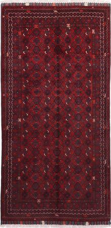 """Hand Made Afghanistan Belouch 3'4"""" x 6'5"""" Red DK"""