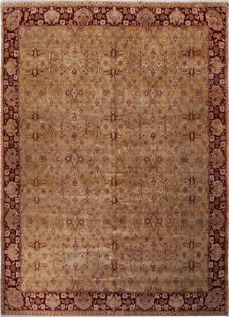 Hand Made India Agra 12' x 17' Gold Rug