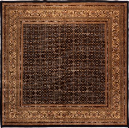 Hand Made India Herati 10' x 10' Black