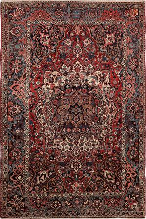 "Hand Knotted Iran Bakhtiari 7' x 9'10"" Red"