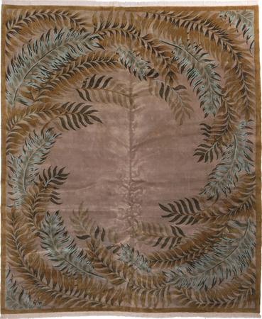 """Hand Knotted India Contemporary 11'10"""" x 13'9"""" Beige"""
