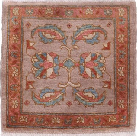 """Hand Knotted Pakistan Oushak 1'9"""" x 1'10"""" Taupe"""