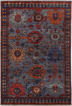 Hand Knotted Pakistan Aryana 4' x 6' Blue LT