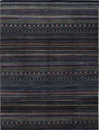 "Hand Knotted Afghanistan Gabbeh 9' x 11'9"" Dark Blue"