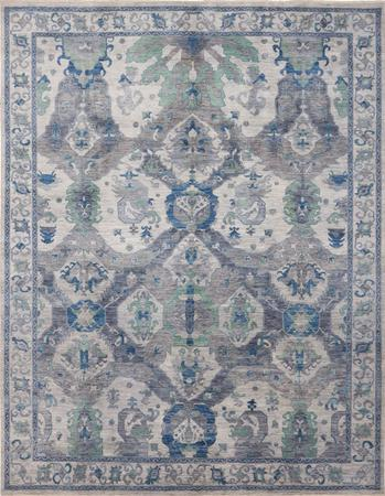 """Hand Knotted Afghanistan Aryana 8'10"""" x 11'7"""" Gray"""