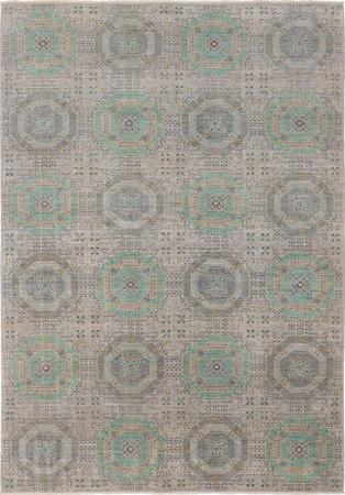 """Hand Knotted Afghanistan Mamluk 7'2"""" x 10'3"""" Gray"""