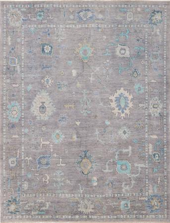 """Hand Knotted Afghanistan Oushak 8'2"""" x 10' Gray"""