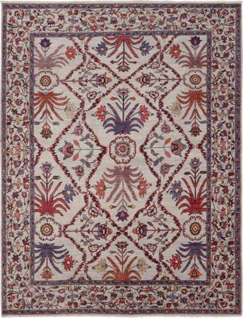 """Hand Knotted Afghanistan Faryab 8' x 10'3"""" Ivory"""