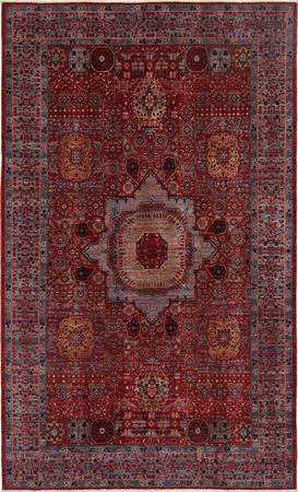 """Hand Knotted Afghanistan Mamluk 5'8"""" x 9'4"""" Red"""