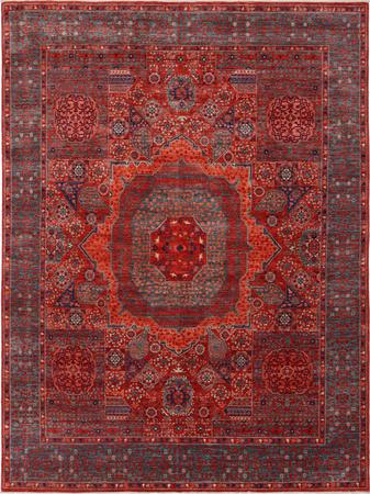 """Hand Knotted Afghanistan Mamluk 7'9"""" x 10' Red"""