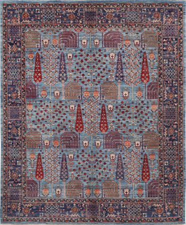 """Hand Knotted Afghanistan Aryana 8' x 9'9"""" Blue"""