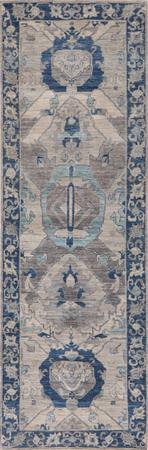 """Hand Knotted Afghanistan Aryana 2'8"""" x 8' Taupe"""