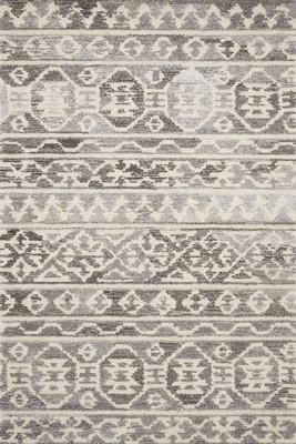 "Loloi Artesia Art-03 Gray/Silver 5'0"" X 7'6"""