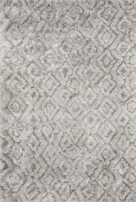 """Loloi Caspia Cap-02 Gray/Silver 5'0"""" X 7'6"""""""