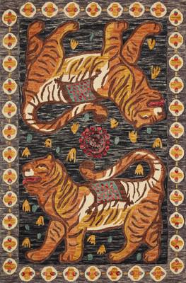 "Loloi Tigress Tig-02 Gray/Silver 3'6""X5'6"""