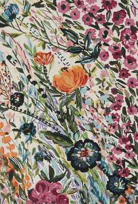 """Loloi Wild Bloom Wv-01 White/Ivory 7'9""""X9'9"""""""