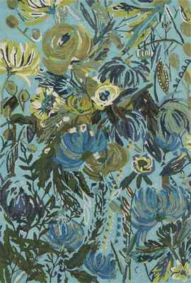 Loloi Wild Bloom Wv-03 Blue/Navy