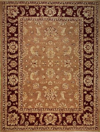Hand Knotted Pakistan Wool temp brown lt Rug 9'x12'