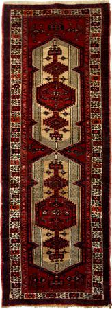 Hand Knotted Persian Wool Serab Ivory Runner 3'1''x9'5''