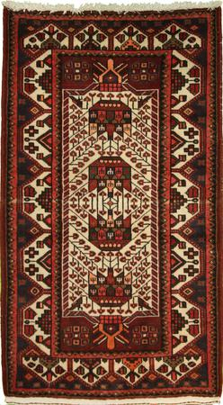 Hand Knotted Persian Wool Ivory 3'2''x4'9'' Rug