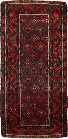 """Hand Knotted Persian  Wool 3'4"""" x 7' Red DK"""