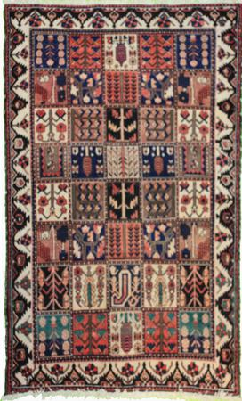 """Hand Knotted Persian Bakhtiari Wool 4'11"""" x 6'8"""" Red"""