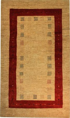 """Hand Knotted Persian Gabbeh Wool 5'9"""" x 9'6"""" Ivory"""