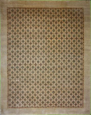 Hand Knotted India Wool Agra Beige 7'9''x9'11'' Rug