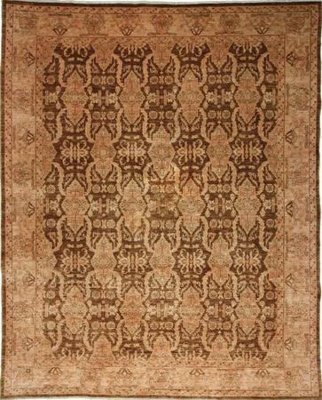 Hand Knotted Pakistan Wool BAMYAN 16440 BROWN 8'1''x9'10'' Rug