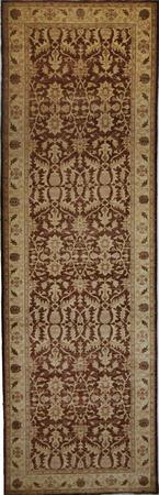 "Hand Knotted Pakistan PAKISTAN Wool 4' x 13'2"" Brown"