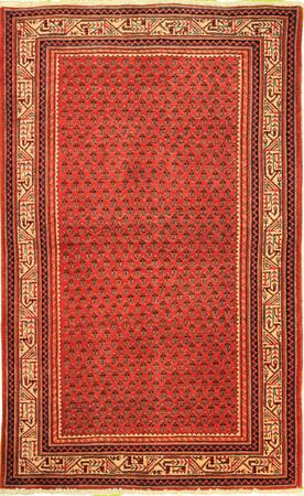 """Hand Knotted Persian butemir Wool 4'4"""" x 7' Rust"""