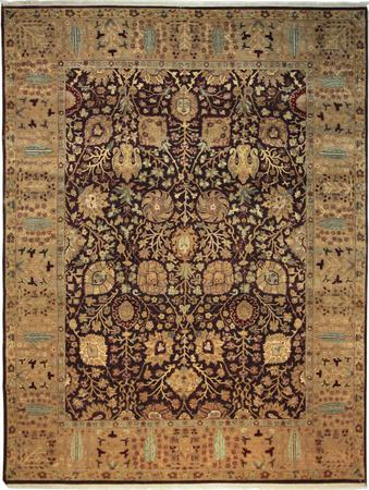 Hand Knotted India Wool Jaipour Purple Rug 9'x12'