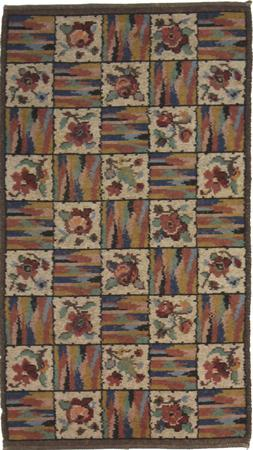 """Hand Knotted Persian Malayer Wool 3'5"""" x 4' Beige"""