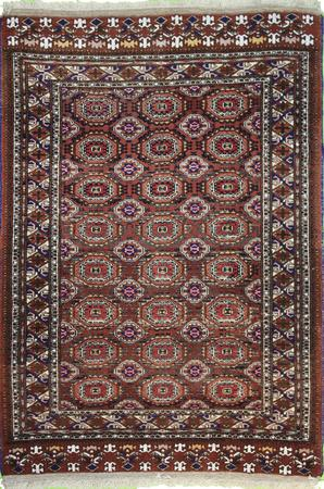 """Hand Knotted Persian  Wool 3'9"""" x 5'9"""" Red DK"""