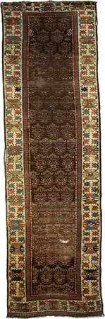 """Hand Knotted Persian Malayer Wool 3'10"""" x 10'7"""" brown dk"""