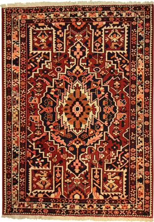 """Hand Knotted Persian Malayer Wool 4'9"""" x 6'6"""" Red"""