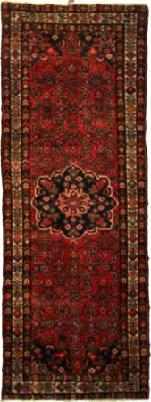 """Hand Knotted Persian Malayer Wool 3'6"""" x 9'8"""" Red"""