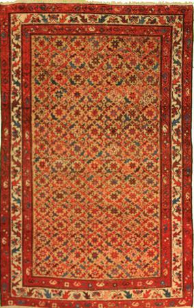 Hand Knotted Persian Wool Varamin Gold 4'x6' Rug
