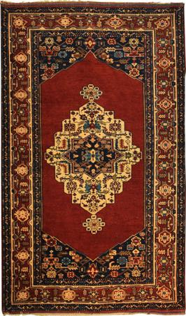 """Hand Made Persian K1 Wool 4'5"""" x 7'2"""" Red"""