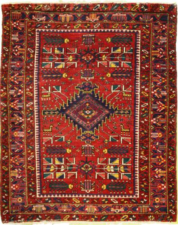 """Hand Made Persian H1 Wool 3'10"""" x 5'6"""" Red"""