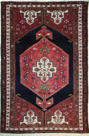"""Hand Made Persian T1 Wool 3'11"""" x 6'4"""" Pink"""