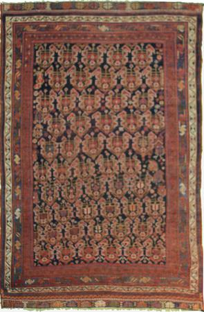 Hand Made Persian H1 Wool 4' x 6' Red