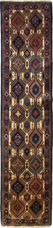 "Hand Made Persian Yalameh Wool 2'2"" x 9'5"" Rust"