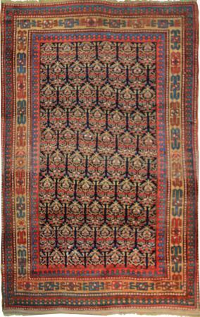 """Hand Made Persian Kurdish Wool 4'9"""" x 7'4"""" Red"""