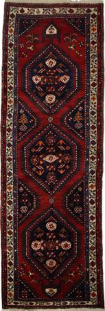 """Hand Knotted Persian Serab Wool 3'6"""" x 10'3"""" Red"""