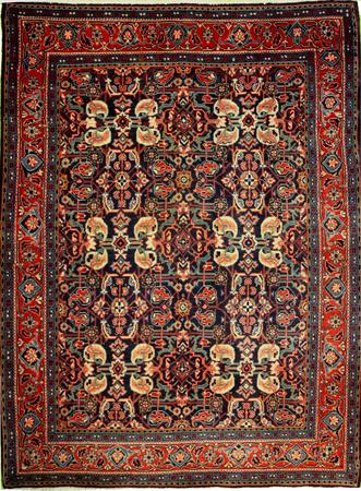 """Hand Knotted Persian  Wool 3'10"""" x 5' Blue"""