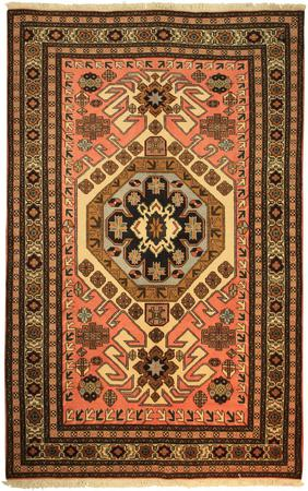 """Hand Knotted Persian 3015-1810 Wool 5'4"""" x 8'7"""" Pink"""