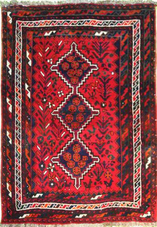 """Hand Knotted Persian 4136-1300 Wool 3' x 5'3"""" Red"""